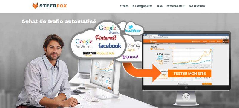 SteerFox achat de trafic internet sur Google